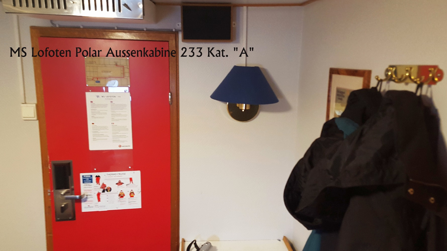"MS Lofoten Polar Aussenkabine 233 Kat. ""A""  H.Reitz©2014"