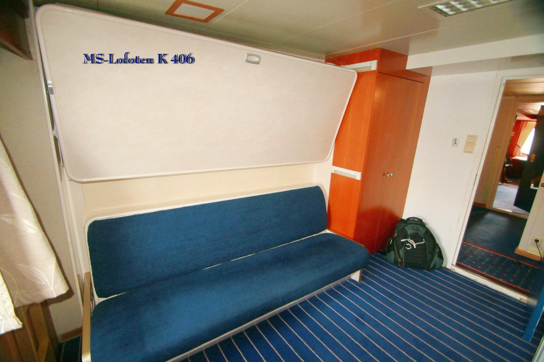 "MS Lofoten Polar Aussenkabine 406 Kat. ""A2""  H.Reitz©2014"