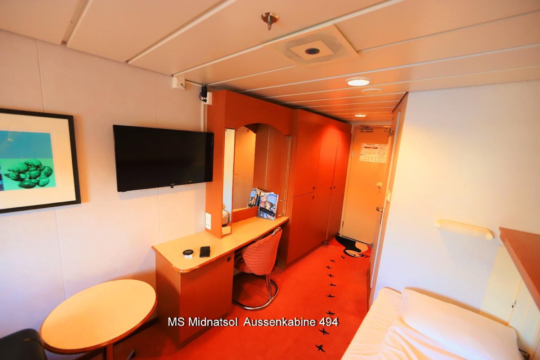 MS Midnatsol Kabine 494 Beispiel für die N Kabinen Deck 4 ©Horst Reitz