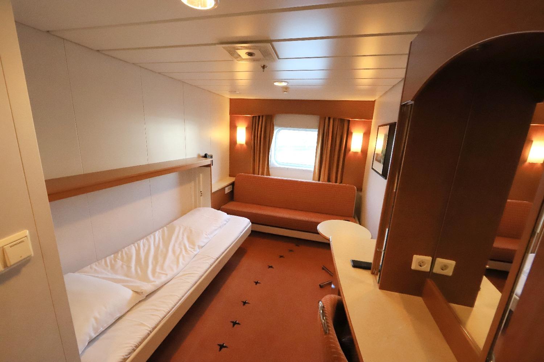 MS Trollfjord Kabine 494 Beispiel für die N Kabinen Deck 4 ©Horst Reitz