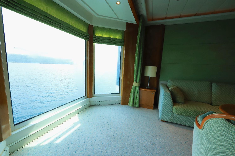 MS Trollfjord Suite 817 Beispiel für die MG Suiten Deck 8 ©Horst Reitz