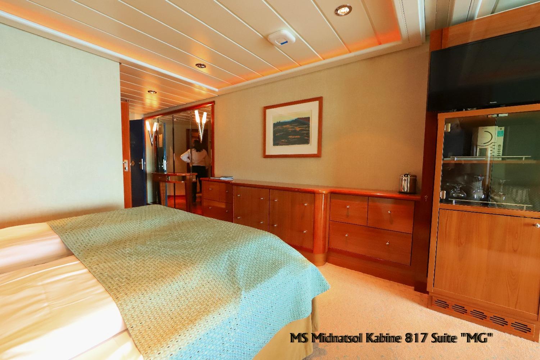 MS Midnatsol Suite 817 Beispiel für die MG Suiten Deck 8 ©Horst Reitz