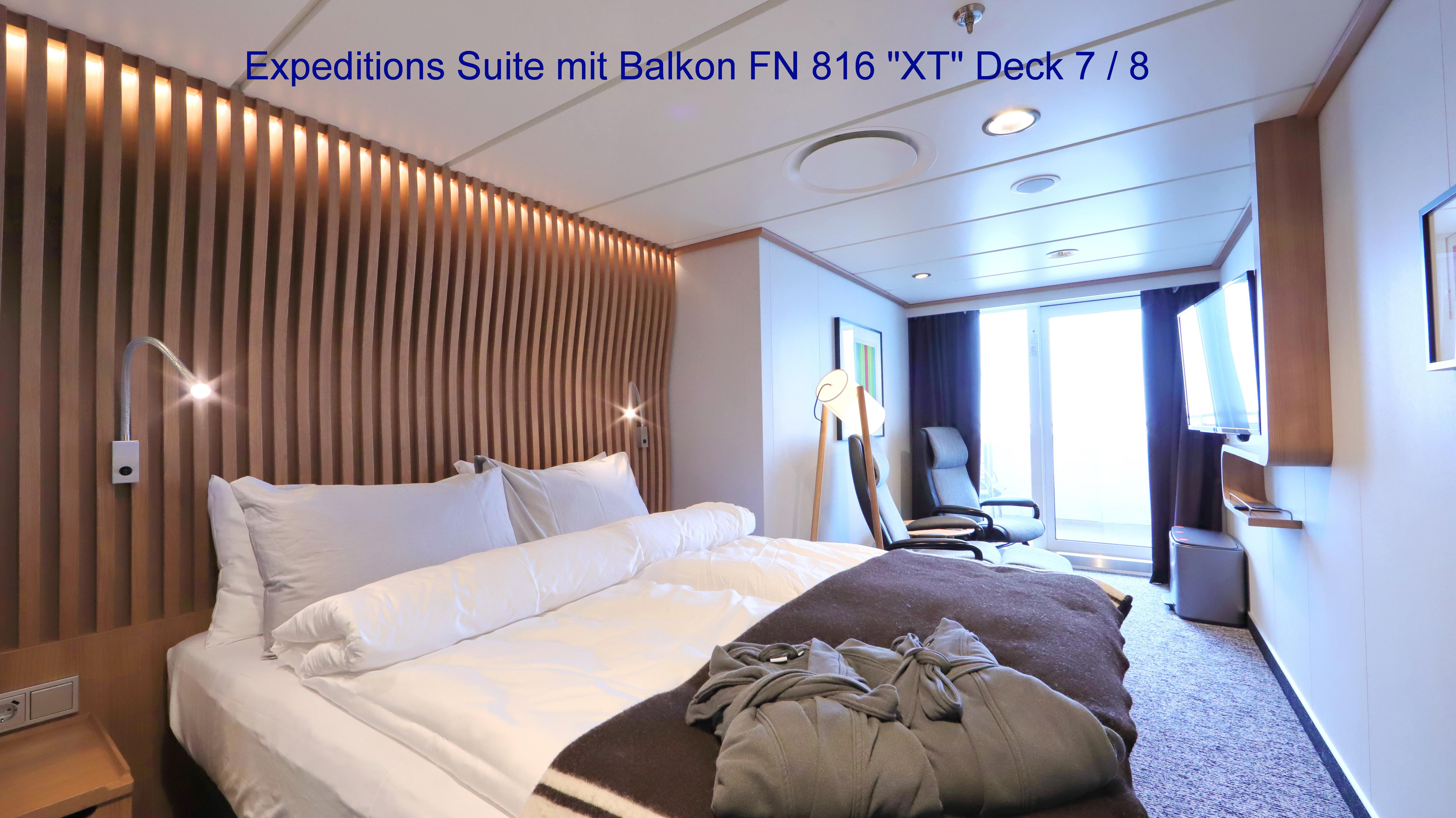 MS Fridtjof Nansen; Balkonsuite 816